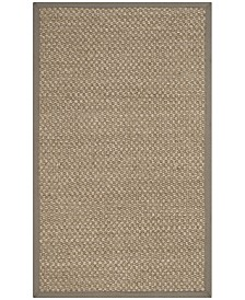 Safavieh Natural Fiber Natural and Gray 3' x 5' Sisal Weave Area Rug