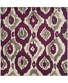 "Safavieh Porcello Ivory and Purple 6'7"" x 6'7"" Square Area Rug"