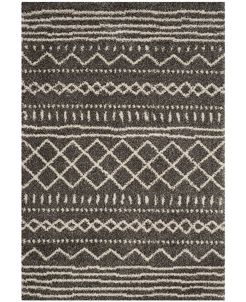 "Safavieh Arizona Shag Brown and Ivory 5'1"" x 7'6"" Area Rug"