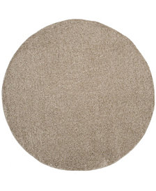 "Safavieh Arizona Shag Light Beige 6'7"" x 6'7"" Round Area Rug"
