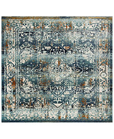 "Safavieh Baldwin Teal and Ivory 6'7"" x 6'7"" Square Area Rug"