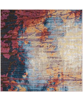 Safavieh Bristol Blue And Rust 7 X 7 Square Area Rug Rugs Macy S