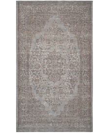 Classic Vintage Gray 4' x 6' Area Rug