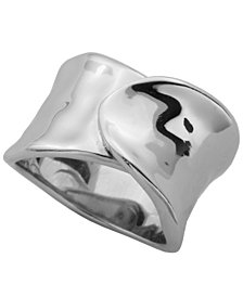 925 Sterling Silver High Polish Plain Wide Band Ring