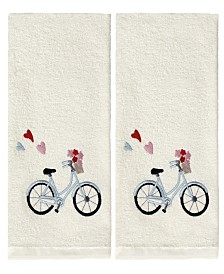 Bicycle 2 Piece Hand Towel Set