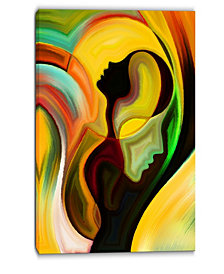 "Designart Way Of Parenting Abstract Canvas Artwork - 30"" X 40"""