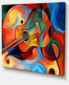 "Designart Music And Rhythm Abstract Canvas Art Print - 40"" X 30"""