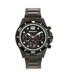 Quartz Pegasus Black Face Multi-Function Black Alloy Watch 46mm