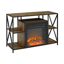 "40"" Fireplace TV Stand Cube Shelf"