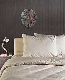 Plain 3 pieces Turkish Cotton Queen Duvet Cover Set