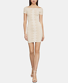 BCBGMAXAZRIA Kisha Off-The-Shoulder Sheath Dress