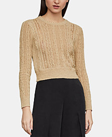 BCBGMAXAZRIA Caleste Lace-Trim Sweater