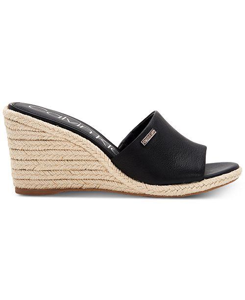 2bc6860a91 ... Calvin Klein Women's Britta Wedge Sandals, Created For Macy's ...
