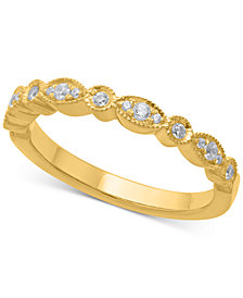Diamond Milgrain Band (1/6 ct. t.w.) in 14k Gold