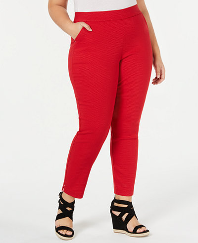 HUE® Plus Size Diamond-Texture Skimmer Leggings