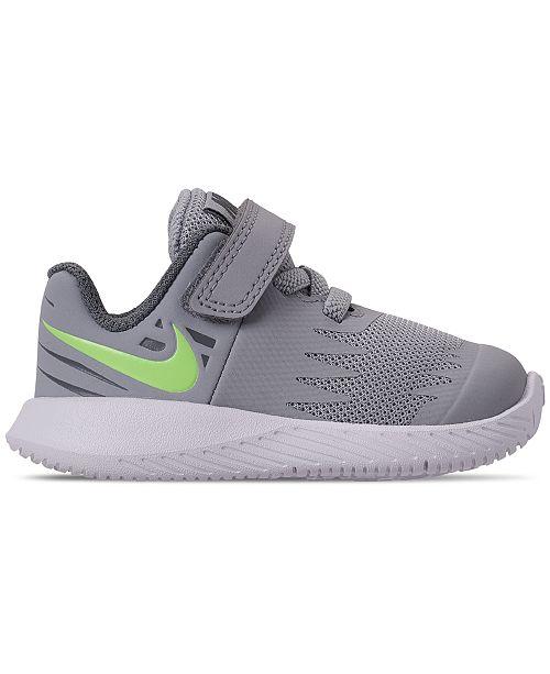 53e7875d9cf7 ... Nike Toddler Boys  Star Runner Adjustable Strap Running Sneakers from  Finish ...