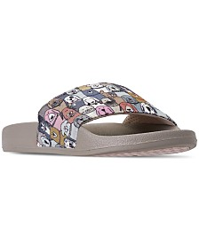 Skechers Women's BOBS For Dogs and Cats Pop Ups - Doggy Paddle Slide Sandals from Finish Line