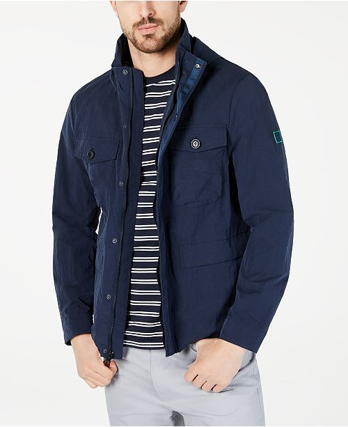 Calvin Klein Men's Water-Resistant Hooded Utility Jacket