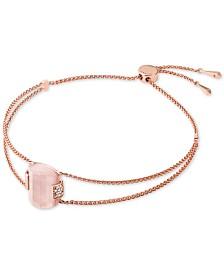 Michael Kors Sterling Silver Pavé & Stone Slider Bracelet