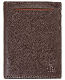 Penguin Men's Leather Tri-Fold Wallet