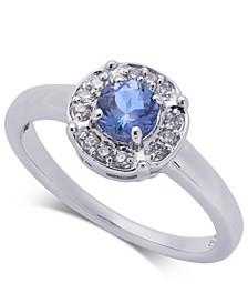 Tanzanite (3/8 ct. t.w.) & Diamond (1/10 ct. t.w.) Ring in 10k White Gold