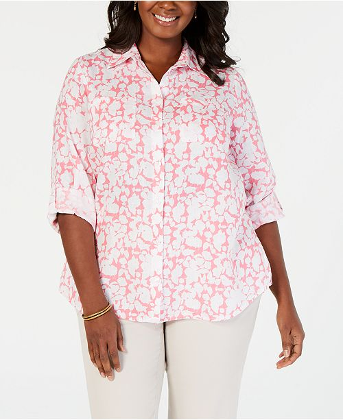 25fc7f6ac21 ... Charter Club Plus Size Linen Shirt