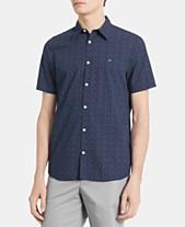 b33c9d95e30e48 Calvin Klein Men's Classic-Fit Dot-Print Shirt