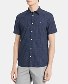 Calvin Klein Men's Big & Tall Dot Print Shirt
