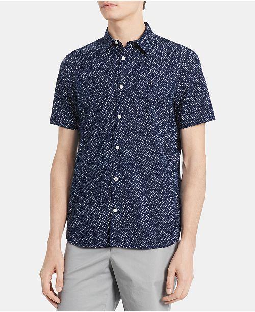 Calvin Klein Men's Big & Tall Dot Print Shirt