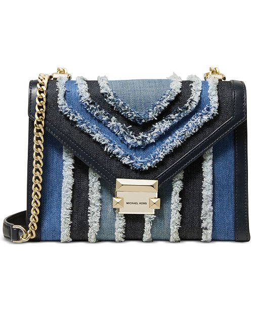 27d7e9ade3c7 Michael Kors Whitney Denim Shoulder Bag & Reviews - Handbags ...