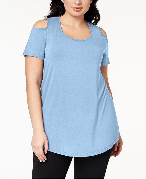 JM Collection Plus Size Cold-Shoulder Tunic, Created for Macy's
