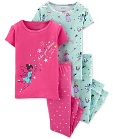 Carter's Baby Girls 4-Pc. Fairy Cotton Pajamas Set