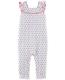 Carter's Baby Girls Geo-Print Cotton Jumpsuit