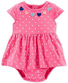 Carter's Baby Girls Dot-Print Cotton Sunsuit