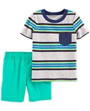025b5eb08 Carter's Baby Boys 2-Pc. Stripe Cotton T-Shirt & Shorts Set