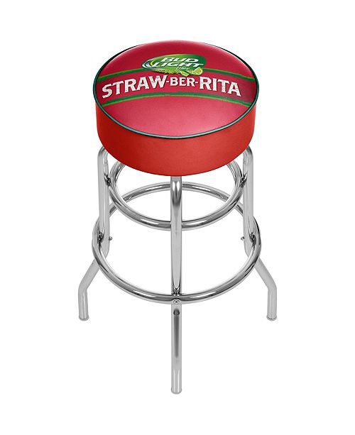 Trademark Global Bud Light Straw-Ber-Rita Padded Swivel Bar Stool