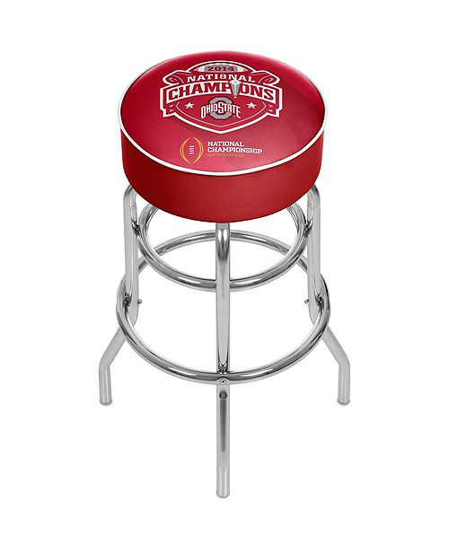 Trademark Global Ohio State National Champions Chrome Bar Stool with Swivel