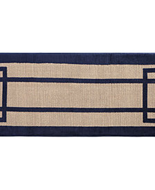 Greek Key 2-Tone Jacquard Memory Foam Runner