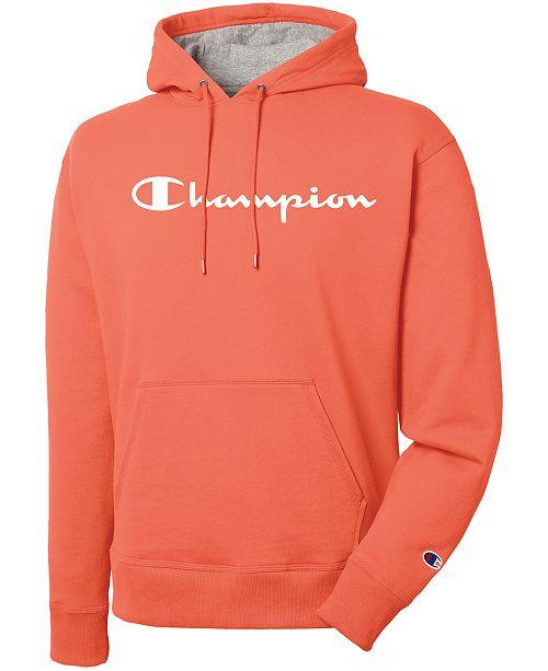 11f80f54d381 Champion Men s Script Logo Powerblend Hoodie   Reviews - Hoodies ...