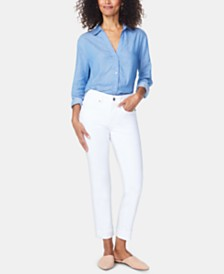 NYDJ Marilyn Straight-Leg Ankle Jeans
