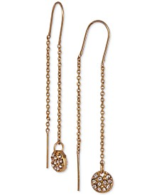 Laundry by Shelli Segal Gold-Tone Pavé Disc Threader Earrings