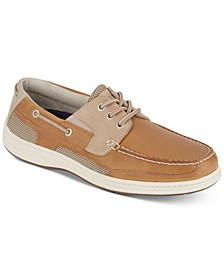 Men's Beacon Leather Casual Boat Shoe with NeverWet