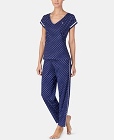 Lauren Ralph Lauren Printed Short-Sleeve Top and Pajama Pants Set