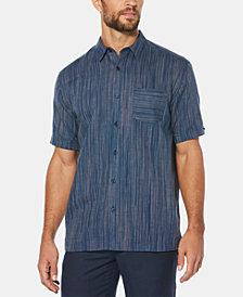 Cubavera Men's Space-Dye Pocket Linen Shirt