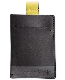 Calvin Klein Pull-Tab Leather Cardholder