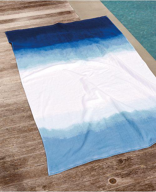 Michael Aram Dip Dye Ombre 100% Cotton Beach Towel