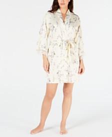 Linea Donatella Short Sherelle Floral Wrap Robe