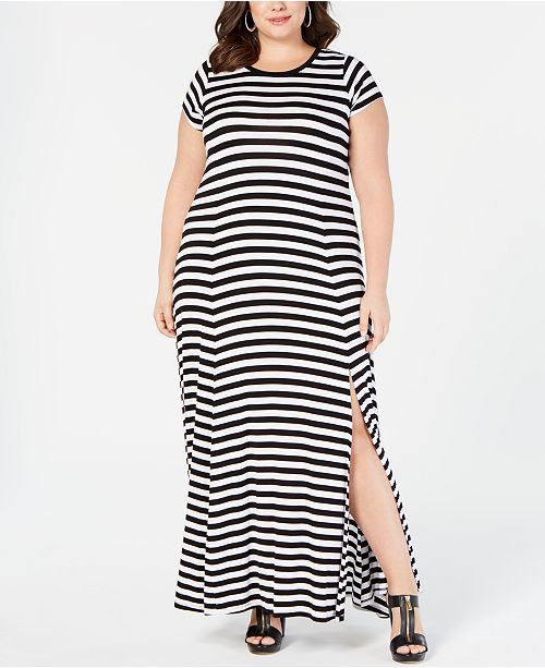 Michael Kors Plus Size Striped Maxi Dress & Reviews ...