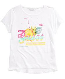 GUESS Big Girls Chiffon-Back Sequin T-Shirt