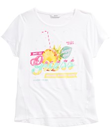 GUESS Big Girls Chiffon-Back Sequin T-Shirt